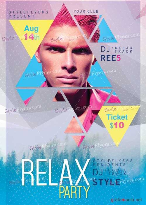 Relax PSD V3 Flyer Template