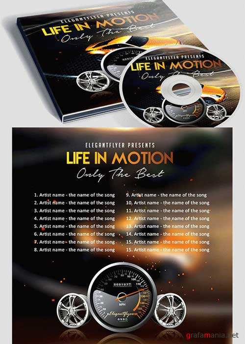 Life in Motion CD Cover PSD Template