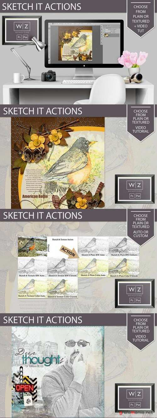 Sketch It Actions - 872386