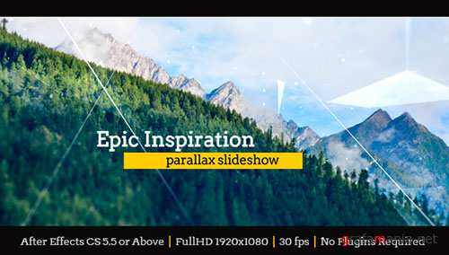 Epic Inspiration Parallax Slideshow - Project for After Effects (Videohive)