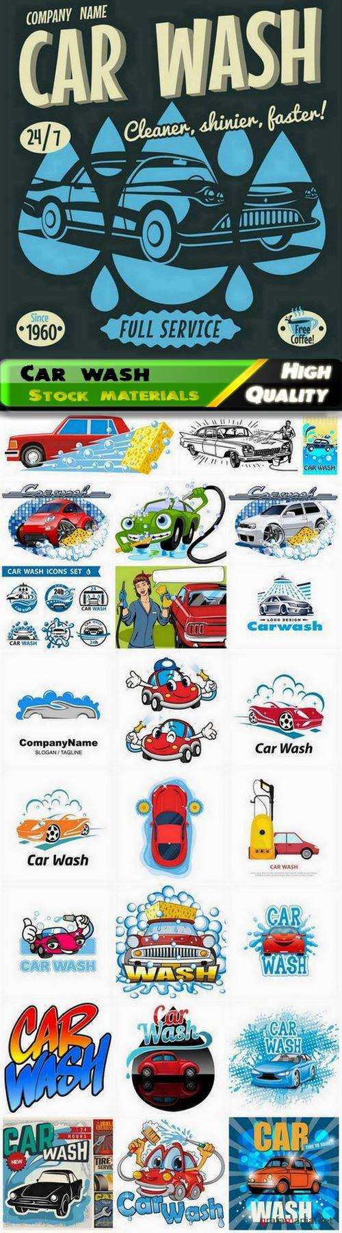 Car wash service and garage automobile repair - 25 Eps