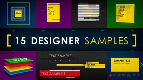 15 Designer Samples (Pack) - Project for After Effects (Videohive)