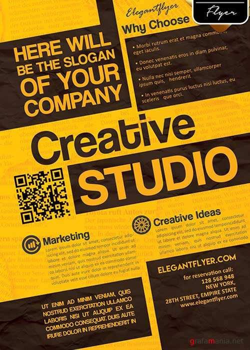 Creative Studio V1 Flyer PSD Template + Facebook Cover