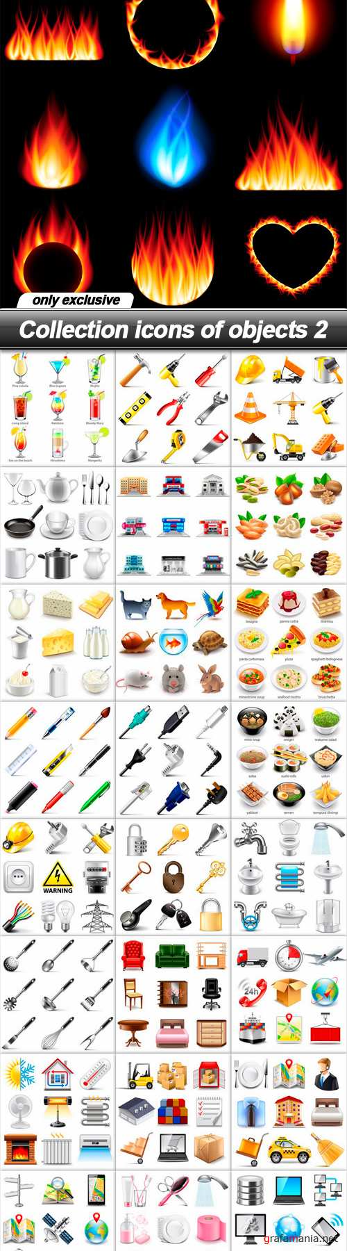 Collection icons of objects 2