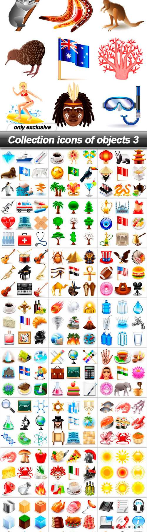 Collection icons of objects 3