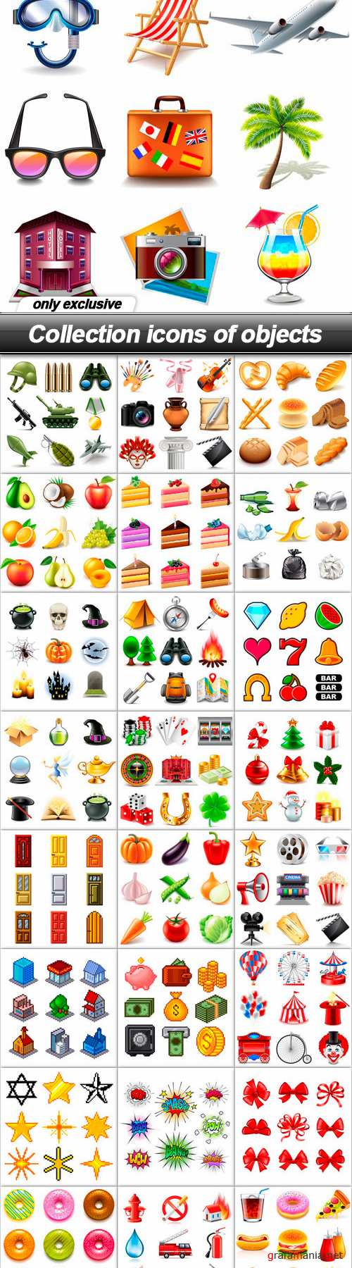 Collection icons of objects
