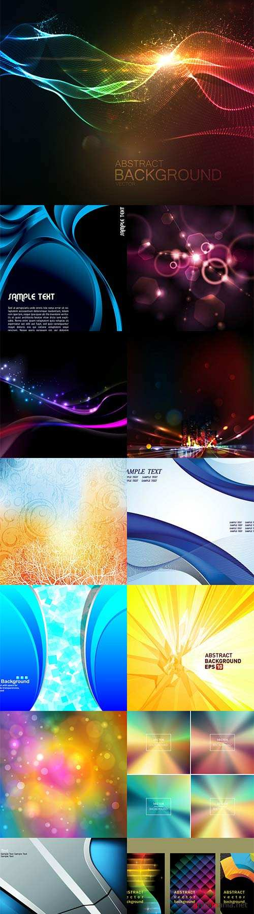 Bright colorful abstract backgrounds vector -47