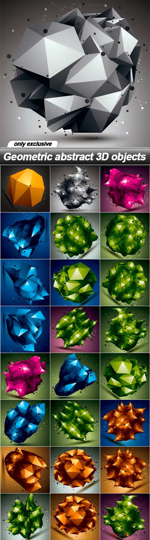 Geometric abstract 3D objects