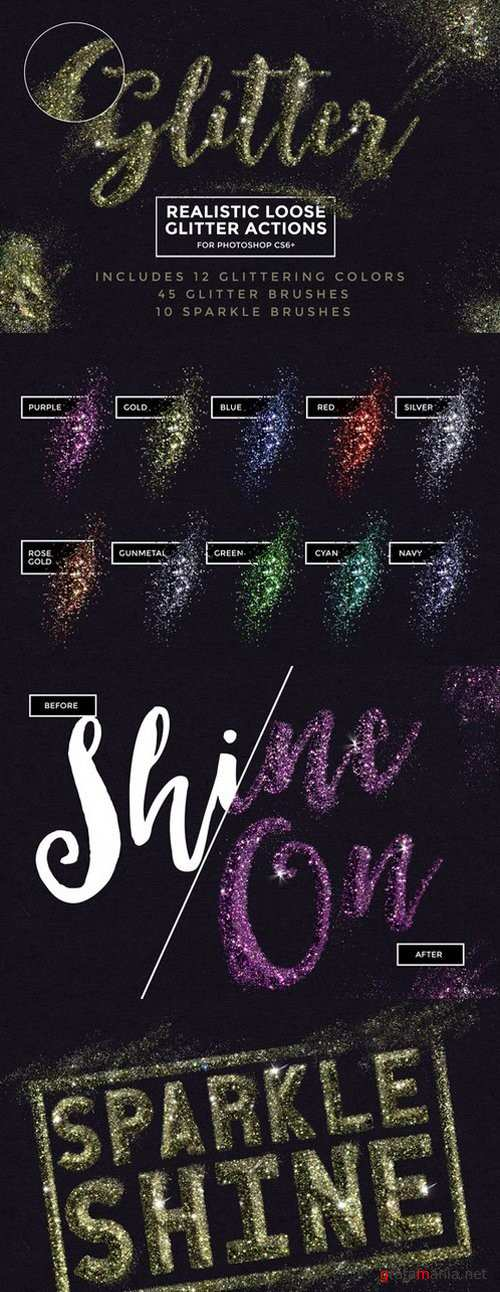Loose Glitter Photoshop Actions - 868065