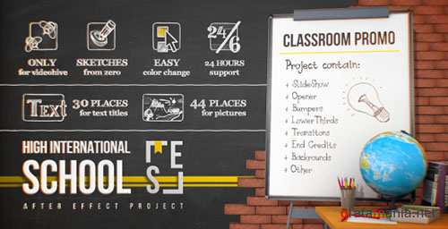 School Classroom Promo - Project for After Effects (Videohive)