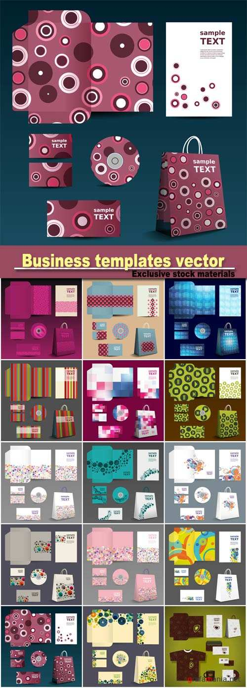 Stationery template, corporate identity business templates vector
