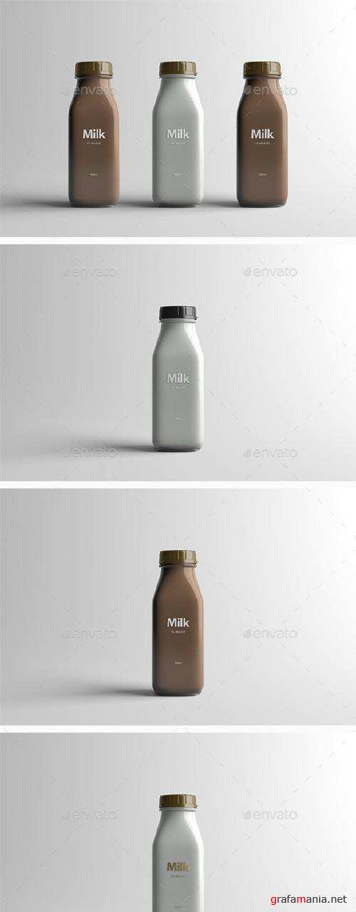 GR - Milk Bottle Packaging Mock-Up - 16079323