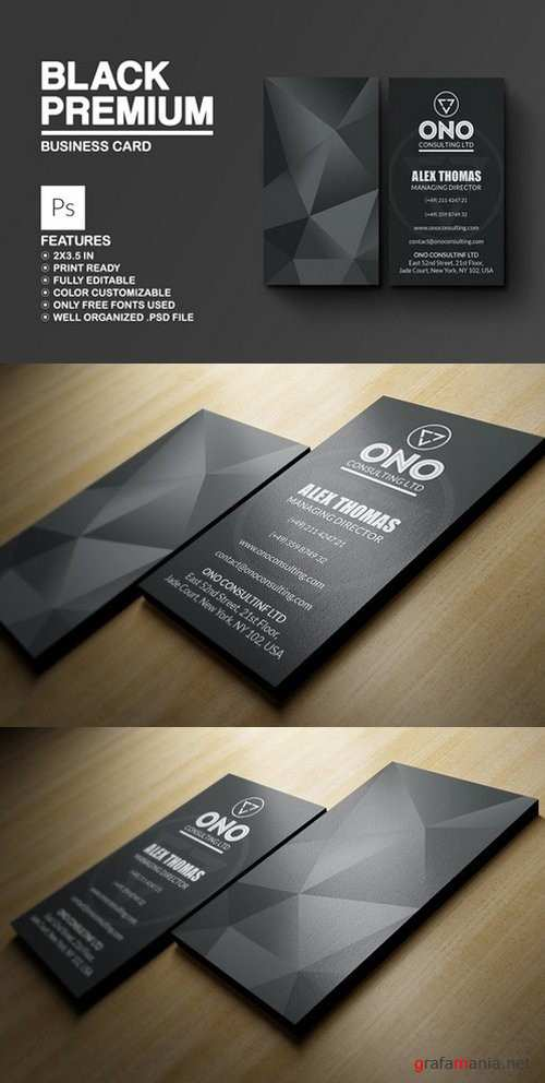 Black Premium Business Card - 792623
