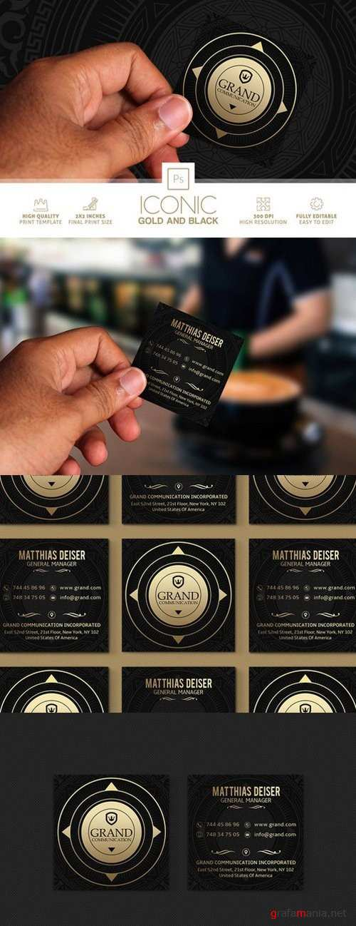 Iconic Gold And Black Business Card - 865345