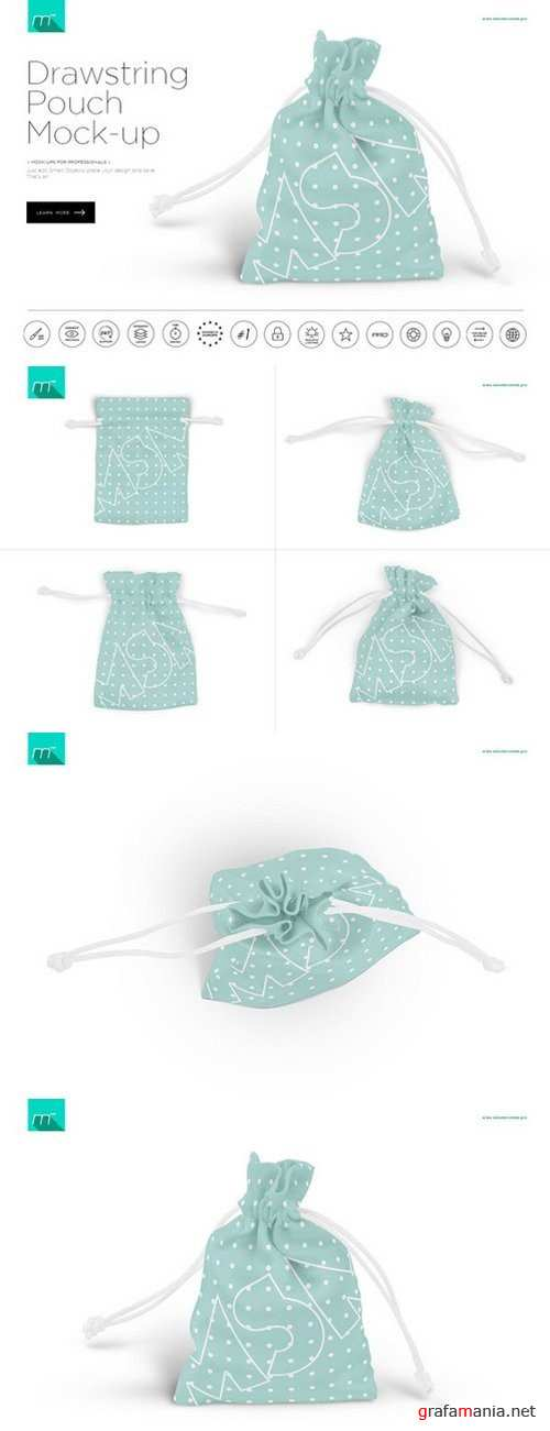 Drawstring Pouch Mock-up - 600108