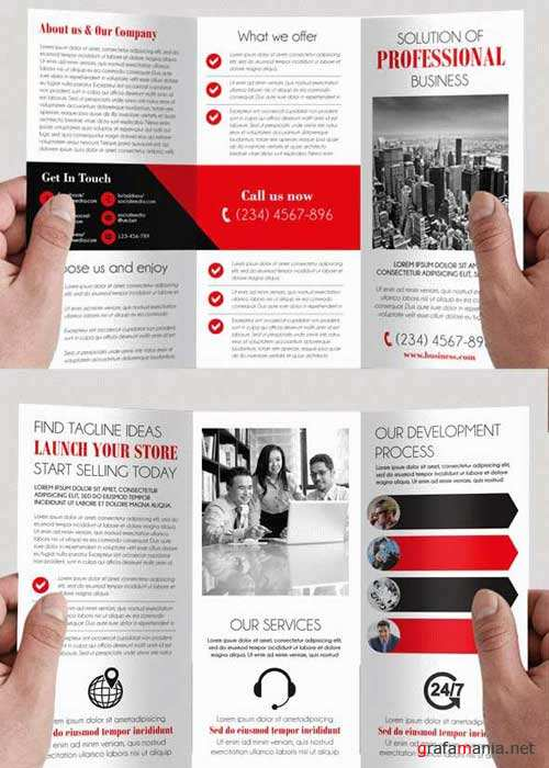 Simple V4 Tri-Fold PSD Brochure Template