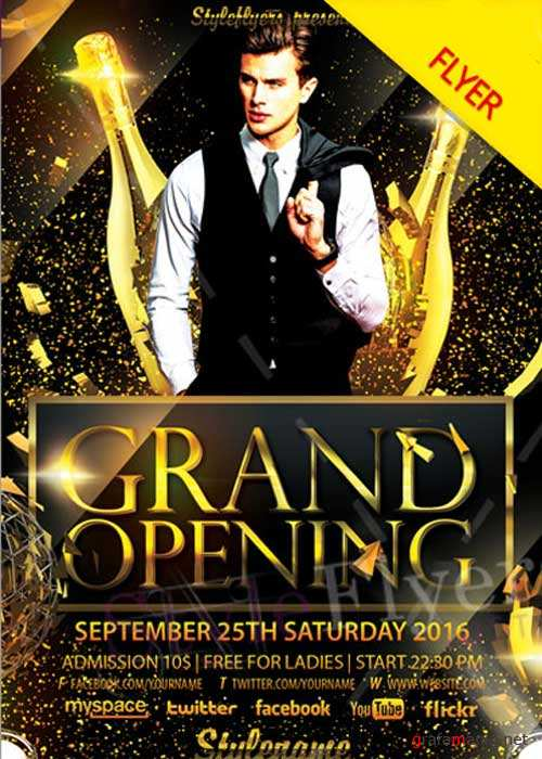 Grand Opening PSD V3 Flyer Template