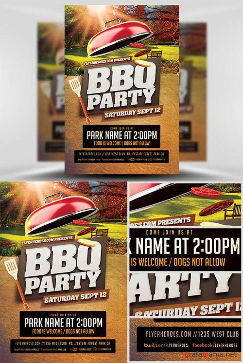 Flyer Template - BBQ Party V3