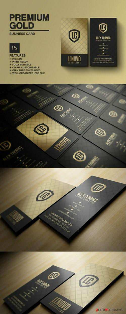 Premium Gold And Black Business Card - 786200