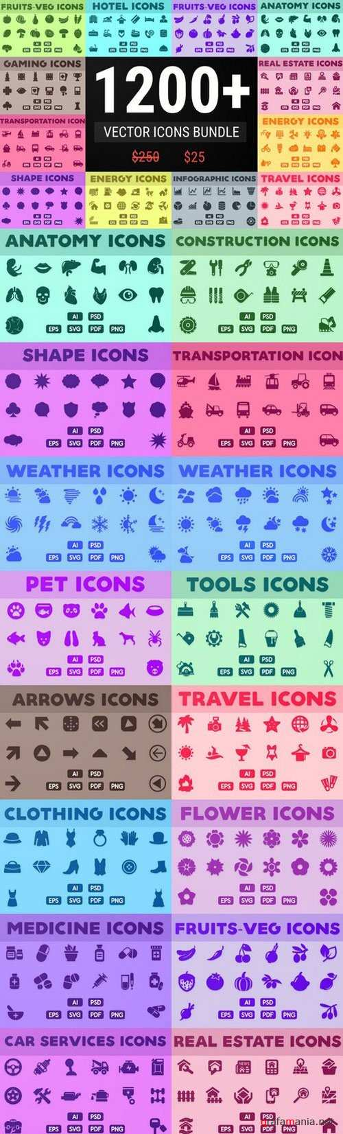 Vector Icons Bundle - 866568
