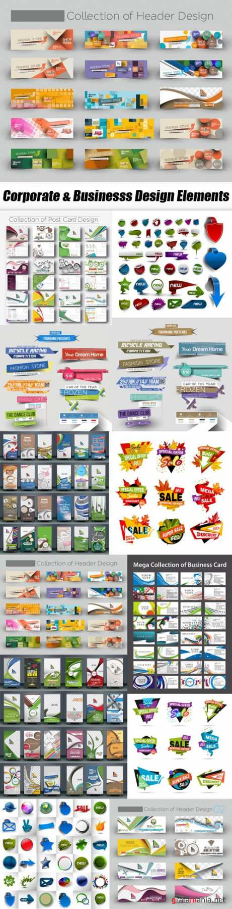 Corporate & Businesss Design Elements - 12xEPS
