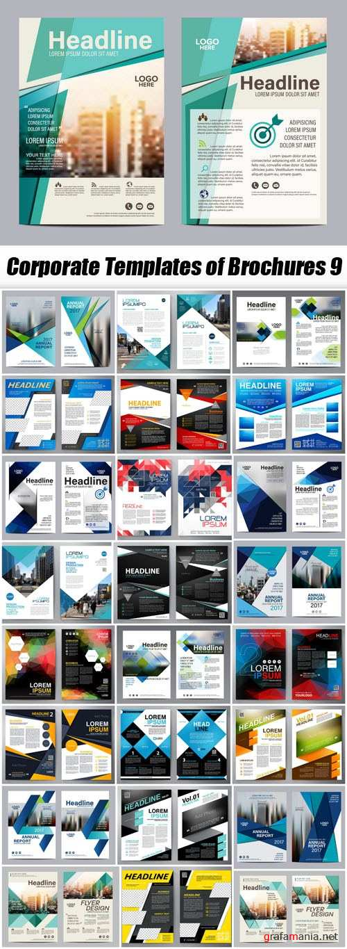 Corporate Templates of Brochures 9 - 25xEPS