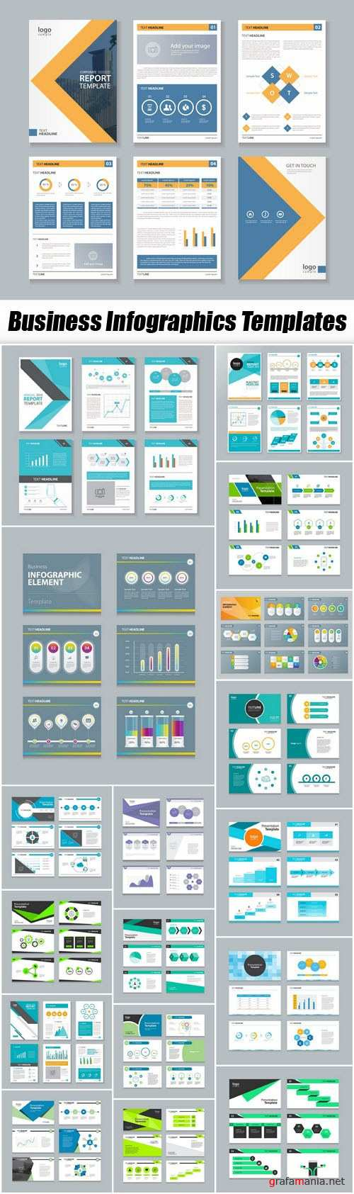 Business Infographics Templates - 20xEPS