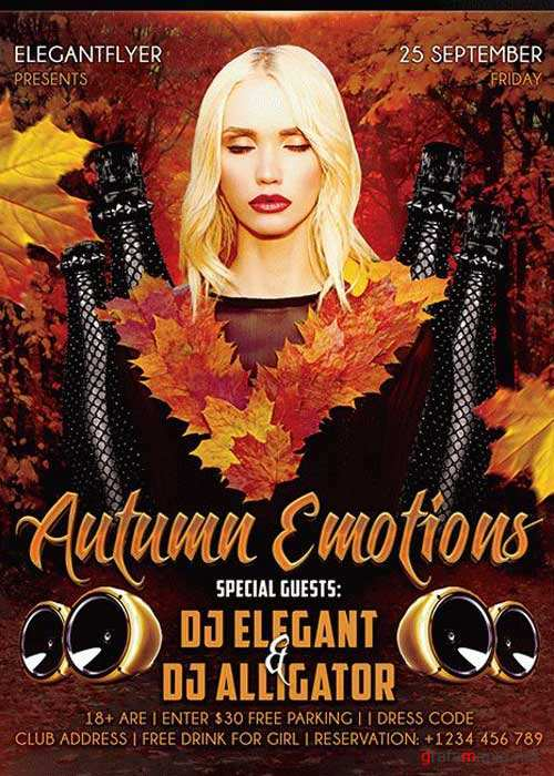 Autumn Emotions Flyer PSD V2 Template + Facebook Cover