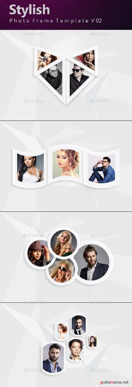 Stylish Photo Frame Template v02 - 17036113