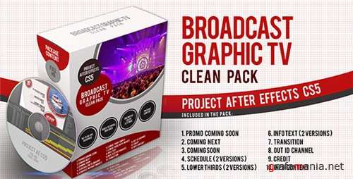 Broadcast Graphic Tv Clean Pack - After Effects Project (Videohive)