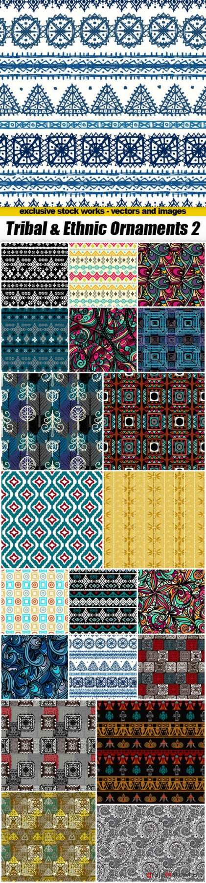 Tribal & Ethnic Ornaments 2 - 20xEPS