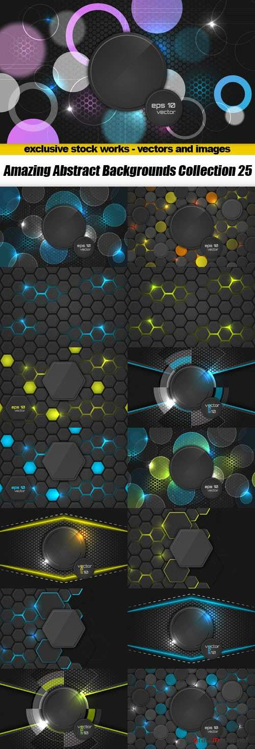 Amazing Abstract Backgrounds Collection 25 - 15xEPS