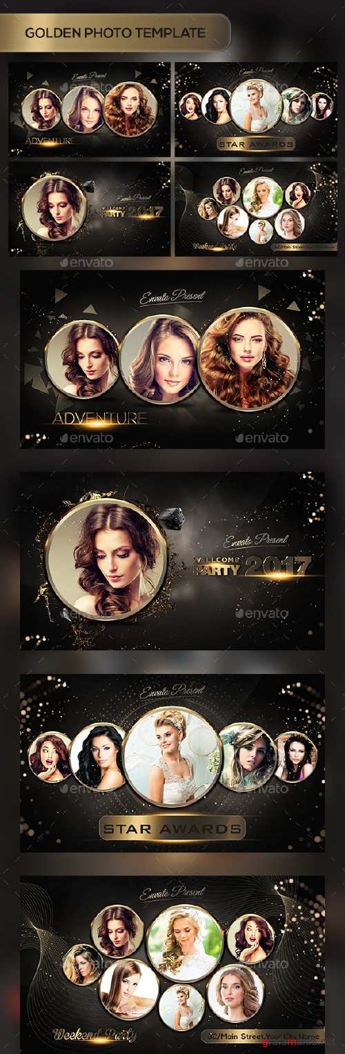 Golden Photo Templates - 17432104