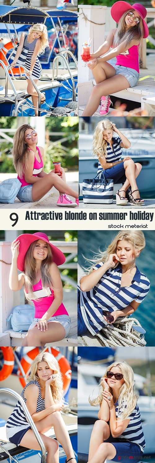 Attractive blonde on summer holiday