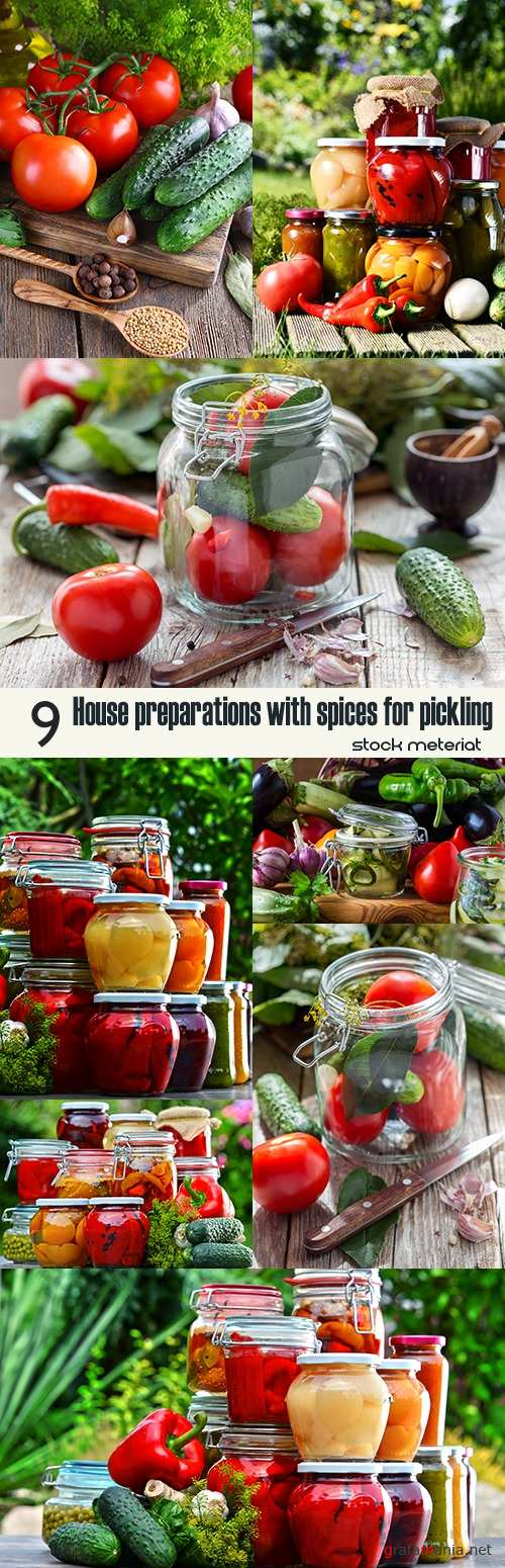 House preparations with spices for pickling