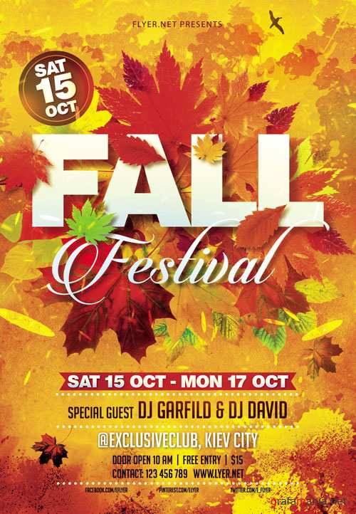 Flyer Template - Fall Festival Vol 3 + Facebook Cover