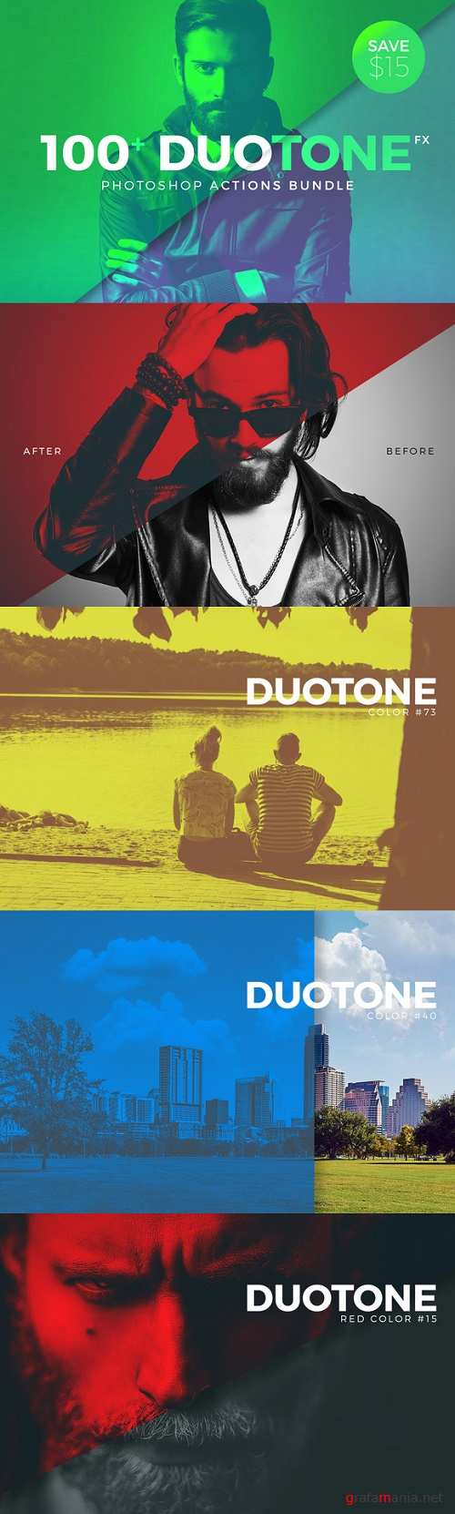 Duotone Photoshop Action Pack - 619827