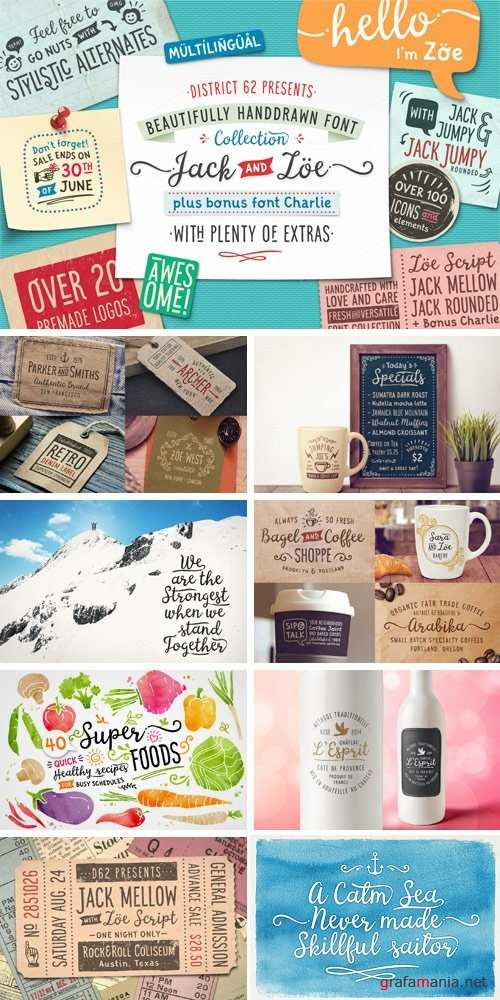 Jack and Zoe Font Collection - 703790