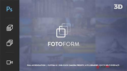 FotoForm - Procedural 4K 3D Photo Animator - Project for After Effects (Videohive)