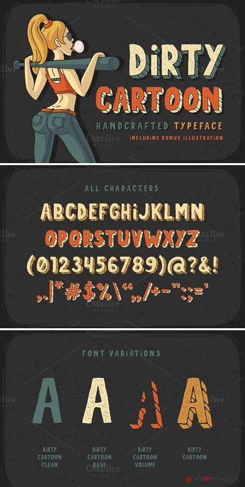 Dirty Cartoon font - 822852