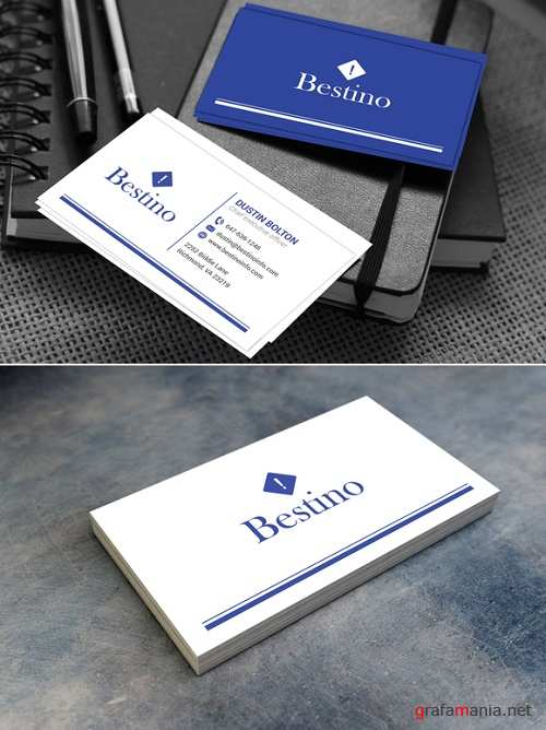 Blue and White Card - 650815