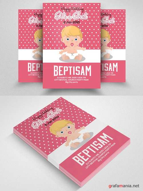 Baby Baptism Flyer Template - 570748
