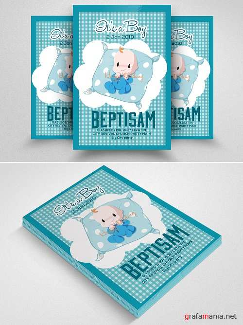 Baby Baptism Flyer Template - 570734