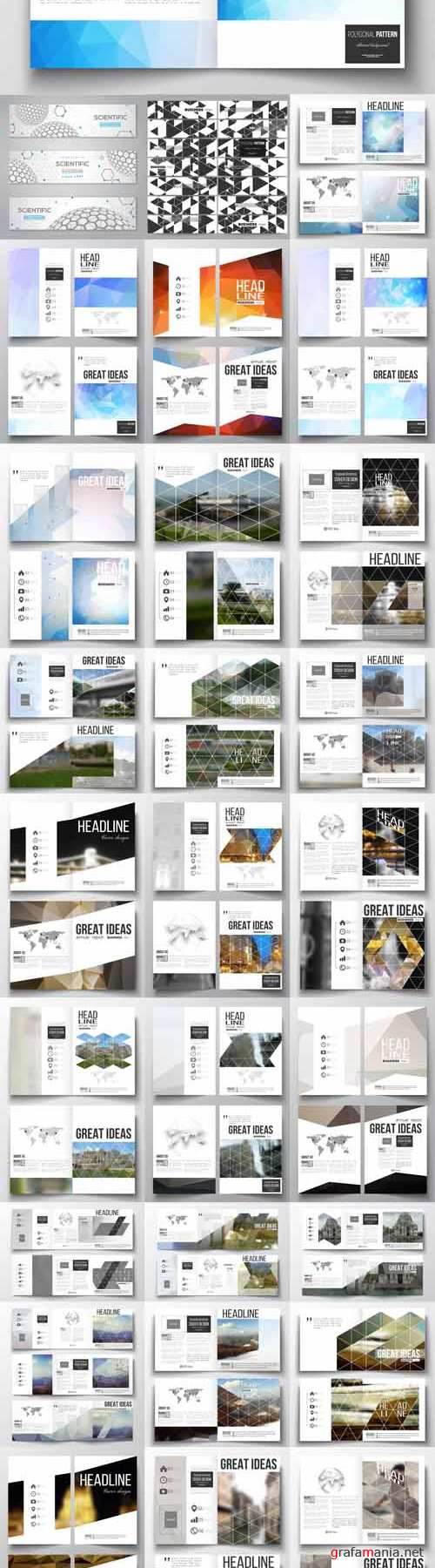 Vector 32 Annual report business templates for brochure, magazine, flyer or booklet 2