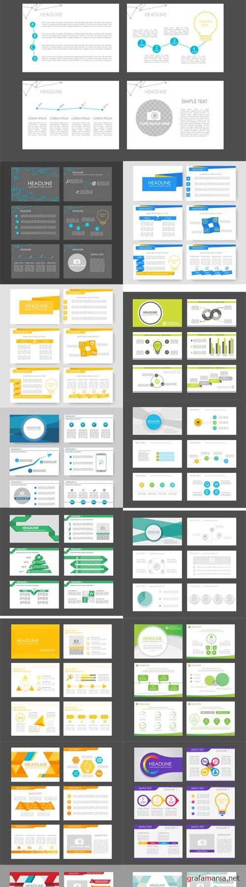 Vector Infographic Elements for Presentation Templates