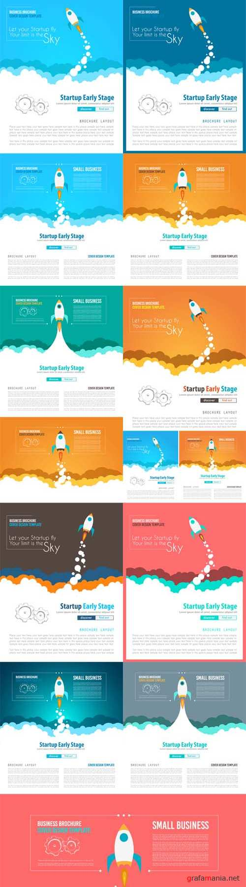 Vector Startup Landing Webpage or Corporate Design Covers