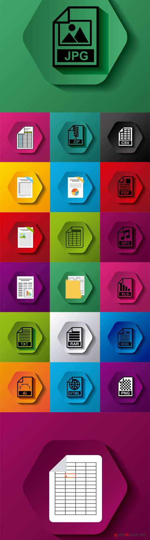 Vector File Format Button Icons Illustration Design