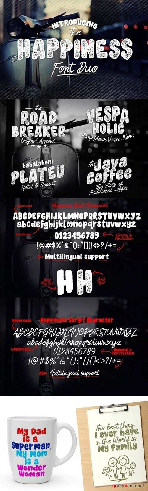 Happiness Font Duo - 930388