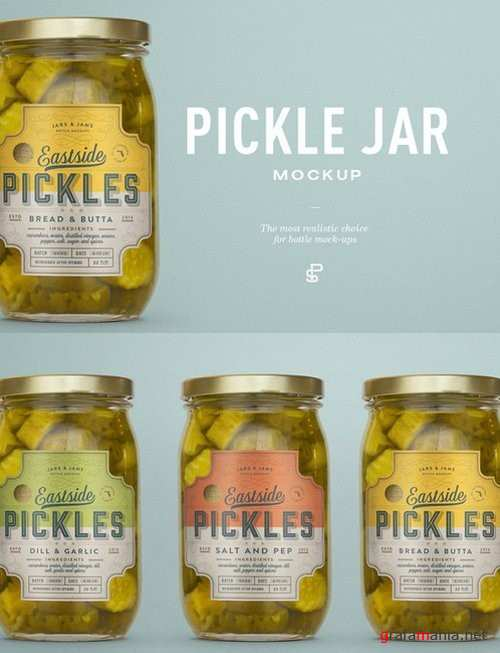 Pickle Jar Mockup - 912149