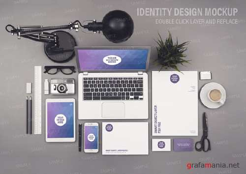 Identity design mockup smart objects - 912430